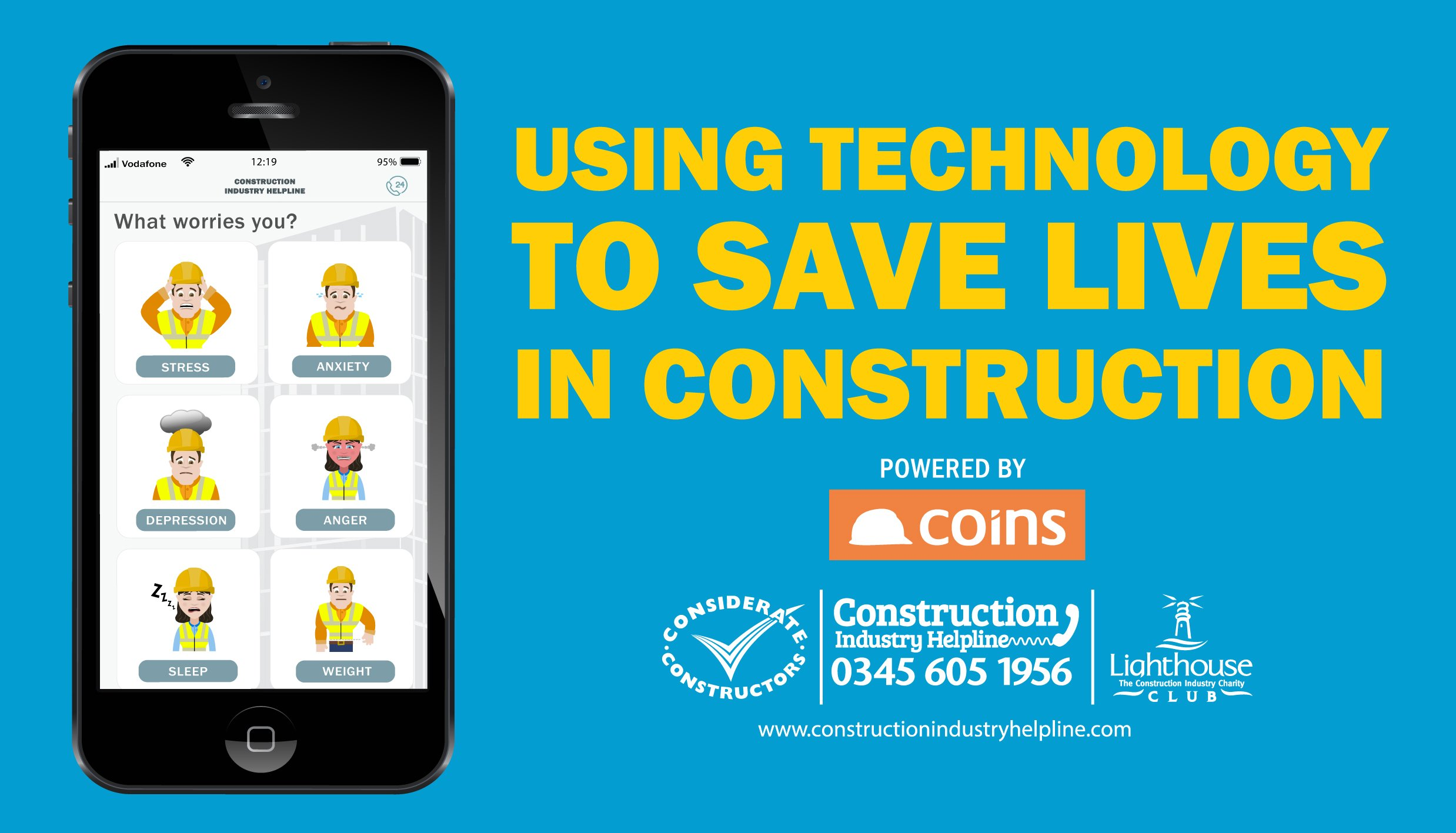 Lighthouse launch App to support construction worker's mental health