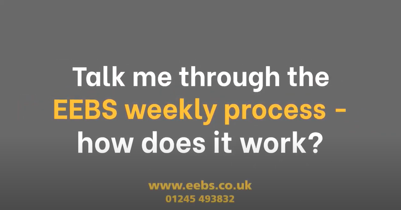 Talk me through the weekly process?