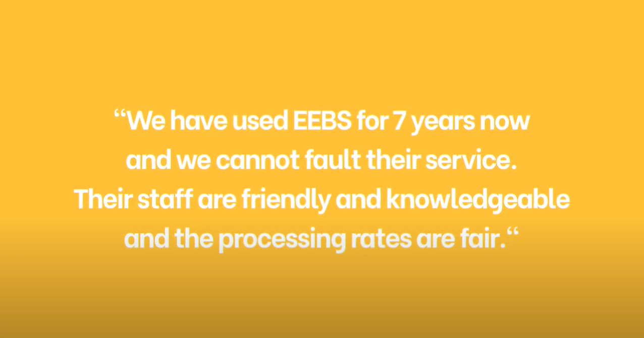 What do EEBS' clients say about the service you provide.. (part 1)