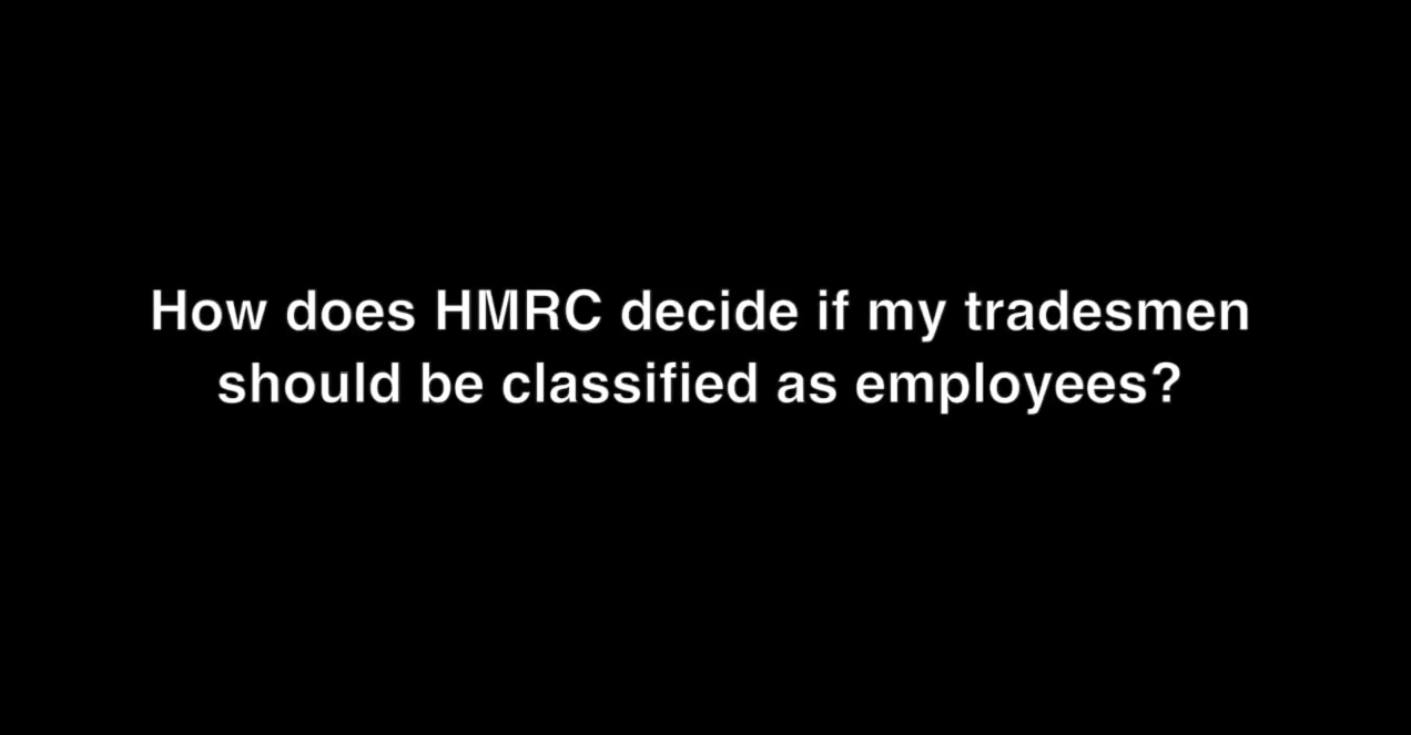 How does the Revenue decide if your tradesmen are employees?